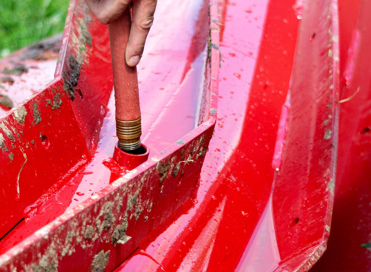 Filling Crop Roller With Water - Advance Cover Crops
